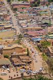 Traffic in kampala. Busy street in kampala, seen from the minaret of uganda national mosque Stock Photography