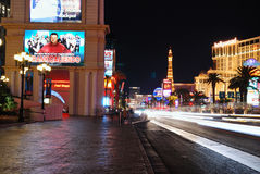 Busy street, Las Vegas Royalty Free Stock Photos