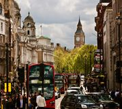 Busy street of London, England, the UK Royalty Free Stock Photography