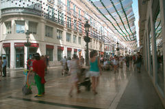 Busy street in Malaga Royalty Free Stock Images