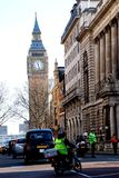 Busy Street near Big Ben Stock Image