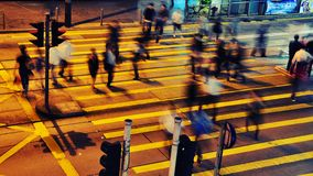 Busy Street at night - Hong Kong Stock Photography