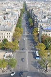 Busy street in Paris.  Stock Photos