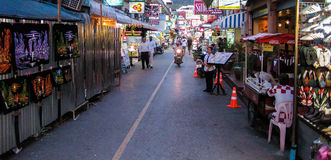 Busy Street at  Patong Beach Stock Photos