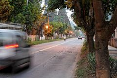 Busy street in Petropolis Royalty Free Stock Photography