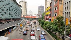 Busy Street at Pudu Plaza Rakyat Kuala Lumpur Royalty Free Stock Photo