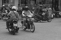 Busy street scene Pattaya, Thailand Royalty Free Stock Image