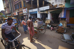 Busy street scene typical for any Indian city Royalty Free Stock Images