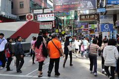 Busy street scenes from Hong Kong Stock Photos