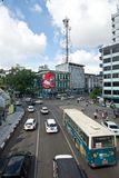 Busy street in Yangon Stock Photos