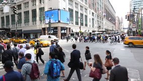 Busy streets in central Manhattan, New York stock video footage