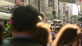Busy streets in central Manhattan, New York stock footage