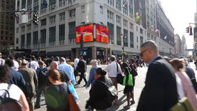 Busy streets in central Manhattan, New York stock video