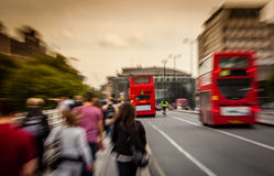 Busy streets of London Royalty Free Stock Photos