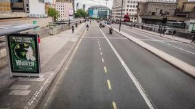 Busy streets of London stock video footage