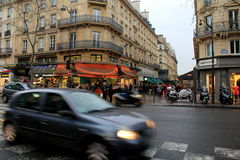 Busy streets during rush hour, Paris, France, 2016 Stock Photos