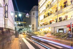 Busy streets of Shibuya district in Tokyo Royalty Free Stock Photos