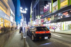Busy streets of Shibuya district in Tokyo Stock Photo