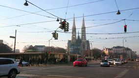 Busy streets of Vienna, Austria stock footage