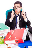 Busy stressed man Royalty Free Stock Image