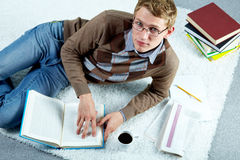Busy student Royalty Free Stock Image