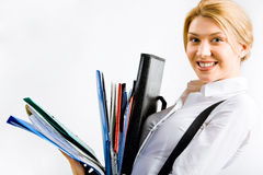 Busy student Stock Images