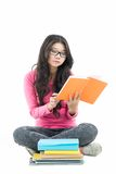 Busy student girl Stock Photography