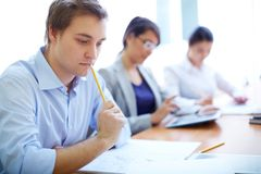 Busy students Royalty Free Stock Images