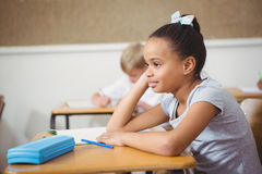 Busy students working on class work. At the elementary school Royalty Free Stock Photos