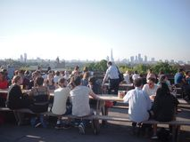 Busy summer viewpoint of London's skyline Stock Image