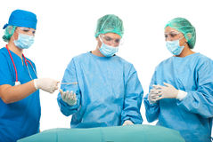 Busy surgeons working Royalty Free Stock Image