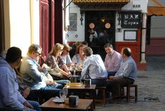 Busy tapas bar, Seville, Spain. Stock Photo