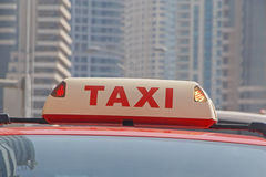 Busy taxi top light Royalty Free Stock Photo