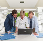 Busy team at the office Royalty Free Stock Photography
