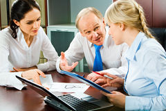 Busy teamwork Royalty Free Stock Images