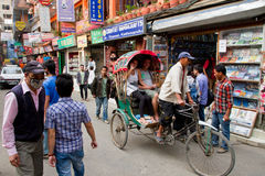 Busy Thamel streets Royalty Free Stock Photos