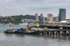The busy tidal quay of Xiamen City. Xiamen is a beautiful coastal city. This is the busy tidal quay of it Stock Images