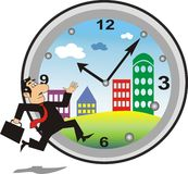 Busy time in a city Royalty Free Stock Images