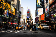 Busy Times Square Royalty Free Stock Photos