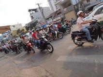 Busy Traffic. Heavy traffic in Ho Chi Minh City, Vietnam Royalty Free Stock Image