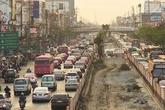 Busy traffic in Bang Kae eastern of Bangkok Royalty Free Stock Photo