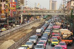 Busy traffic in Bang Kae eastern of Bangkok Stock Photo