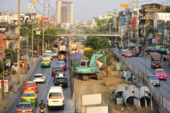 Busy traffic in Bang Kae eastern of Bangkok Royalty Free Stock Image