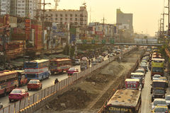 Busy traffic in Bang Kae eastern of Bangkok Stock Photos