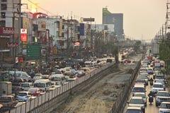 Busy traffic in Bang Kae eastern of Bangkok Royalty Free Stock Photos