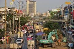 Busy traffic in Bang Kae eastern of Bangkok Royalty Free Stock Images