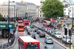 Busy Traffic in Central London near King's Cross Royalty Free Stock Photo