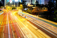 Busy traffic in city Royalty Free Stock Image