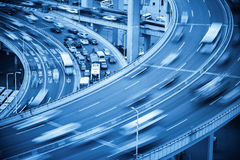 Busy traffic closeup and road accident Stock Image