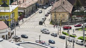 Busy Traffic In Cluj Napoca City stock video footage